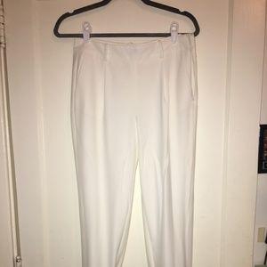 White Trouve Jogger pants